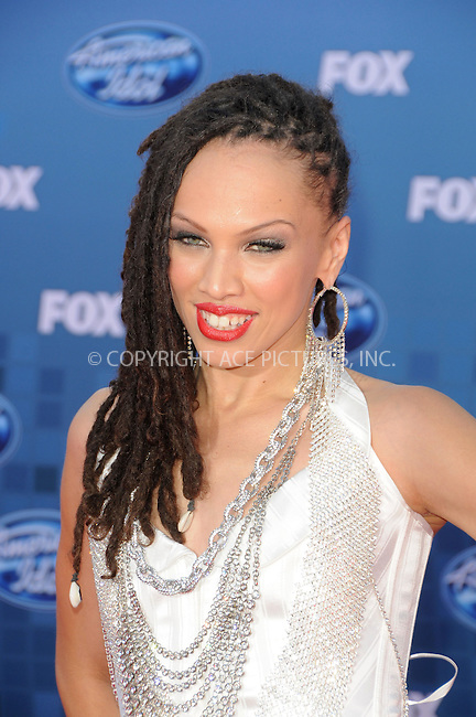 WWW.ACEPIXS.COM . . . . .  ....May 25 2011, Los Angeles....Naima Adedapo arriving at the 'American Idol' season 10 finale results show at the Nokia Theatre LA on May 25, 2011 in Los Angeles, California. ....Please byline: PETER WEST - ACE PICTURES.... *** ***..Ace Pictures, Inc:  ..Philip Vaughan (212) 243-8787 or (646) 679 0430..e-mail: info@acepixs.com..web: http://www.acepixs.com