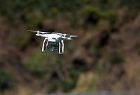 Dan Cron's drone takes to the air. Hurricanes rugby union training at Rugby League Park in Wellington, New Zealand on Wednesday, 24 January 2018. Photo: Dave Lintott / lintottphoto.co.nz