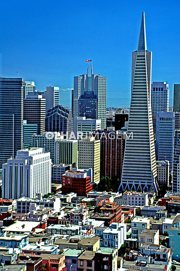 Vista da cidade de São Francisco. EUA. 1998. Foto de Stefan Kolumban.