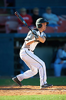 Wisconsin-Milwaukee Panthers second baseman Billy Quirke (7) hits a home run during a game against the Bethune-Cookman Wildcats on February 26, 2016 at Chain of Lakes Stadium in Winter Haven, Florida.  Wisconsin-Milwaukee defeated Bethune-Cookman 11-0.  (Mike Janes/Four Seam Images)
