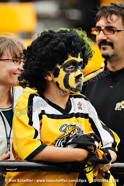 September 6, 2010; Hamilton, ON, CAN; CFL football: CFL football fans at the Labour Day Classic - Toronto Argonauts vs. Hamilton Tiger-Cats at Ivor Wynne Stadium. The Tiger-Cats defeated the Argonauts 28-13. Mandatory Credit: Ron Scheffler.