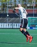 AMSTELVEEN - Justin Reid-Ross (Adam)   tijdens  de hoofdklasse competitiewedstrijd hockey heren,  Amsterdam-SCHC (3-1).  COPYRIGHT KOEN SUYK