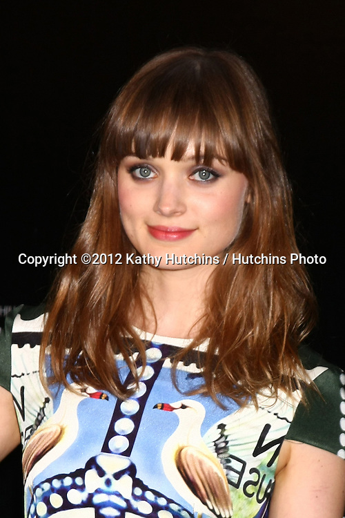 LOS ANGELES - DEC 5:  Bella Heathcote arrives to the Rodeo Drive Walk Of Style Honoring BLVGARI at Rodeo Drive on December 5, 2012 in Beverly Hills, CA