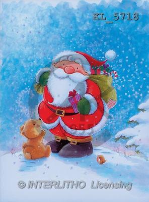 Interlitho, Peter, CHRISTMAS SANTA, SNOWMAN, paintings, santa, bear, robin(KL5718,#X#) Weihnachtsmänner, Schneemänner, Weihnachen, Papá Noel, muñecos de nieve, Navidad, illustrations, pinturas