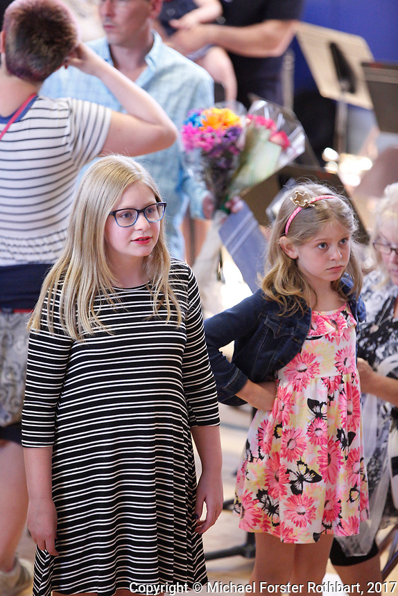 The Oneonta Greater Plains elementary school fifth grade awards ceremony, on June 21, 2017.<br /> &copy; Michael Forster Rothbart Photography<br /> www.mfrphoto.org &bull; 607-267-4893<br /> 34 Spruce St, Oneonta, NY 13820<br /> 86 Three Mile Pond Rd, Vassalboro, ME 04989<br /> info@mfrphoto.org<br /> Photo by: Michael Forster Rothbart<br /> Date:  6/21/2017<br /> File#:  Canon &mdash; Canon EOS 5D Mark III digital camera frame C19464