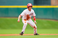 Landon Appling #1 of the Houston Cougars takes his lead off of second base against the Baylor Bears at Minute Maid Park on March 4, 2011 in Houston, Texas.  Photo by Brian Westerholt / Four Seam Images