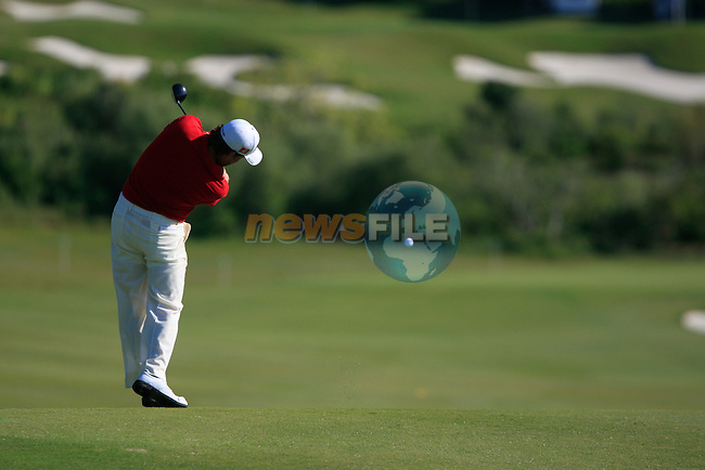 Graeme McDowell (N.IRL) plays his 2nd shot on the 5th hole during the morning session on Day 3 of the Volvo World Match Play Championship in Finca Cortesin, Casares, Spain, 21st May 2011. (Photo Eoin Clarke/Golffile 2011)