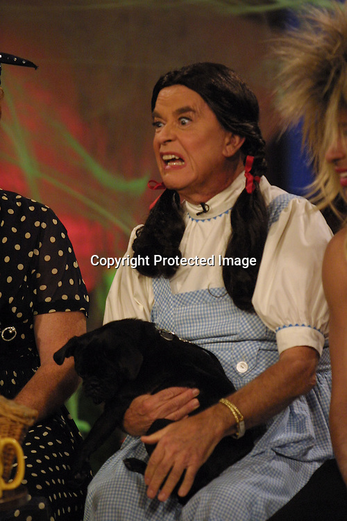 ©2002 KATHY HUTCHINS / HUTCHINS PHOTO.THE OTHER HALF TAPING -  HALLOWEEN SHOW .W/ HOSTS DRESSED UP AS FAMOUS LADIES.BURBANK, CA.OCTOBER 23, 2002..MARIO LOPEZ - CARMEN MIRANDA.DANNY BONADUCE - LUCILLE BALL.DICK CLARK - DOROTHY IN WIZARD OF OZ.DORIAN GREGORY - TINA TURNER...