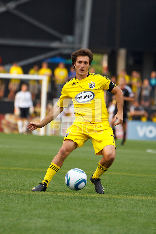 26 JUNE 2010:  Guillermo Barros Schelotto of the Columbus Crew (7) during MLS soccer game between DC United vs Columbus Crew at Crew Stadium in Columbus, Ohio on May 29, 2010. The Crew defeated DC United 2-0.