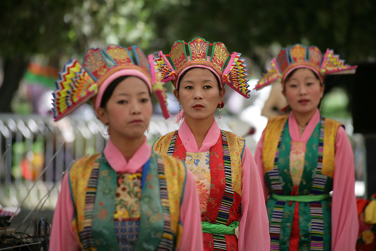 A production of traditional Tibetan Opera at Norbulingka