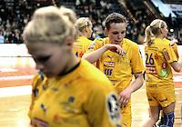 1. Bundesliga Handball Frauen - Punktspiel HC Leipzig (HCL) : DJK / MJC Trier - Arena Leipzig - im Bild: HCL Spielerin Louise Lyksborg nach dem Spiel. Foto: Norman Rembarz ..