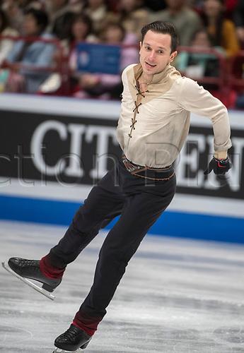 24th March 2018, Mediolanum Forum, Milan, Italy;  Alexei BYCHENKO (ISR) during the ISU World Figure Skating Championships, Men Free Skating at Mediolanum Forum in Milan, Italy