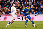 Real Madrid's Luka Modric and Celta de Vigo's Pablo Hernandez during Copa del Rey match between Real Madrid and Celta de Vigo at Santiago Bernabeu Stadium in Madrid, Spain. January 18, 2017. (ALTERPHOTOS/BorjaB.Hojas)