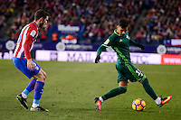 Atletico de Madrid's Sime Vrsaljko and Real Betis's Matias Nahuel during La Liga match between Atletico de Madrid and Real Betis at Vicente Calderon Stadium in Madrid, Spain. January 14, 2017. (ALTERPHOTOS/BorjaB.Hojas) /NORTEPHOTO.COM
