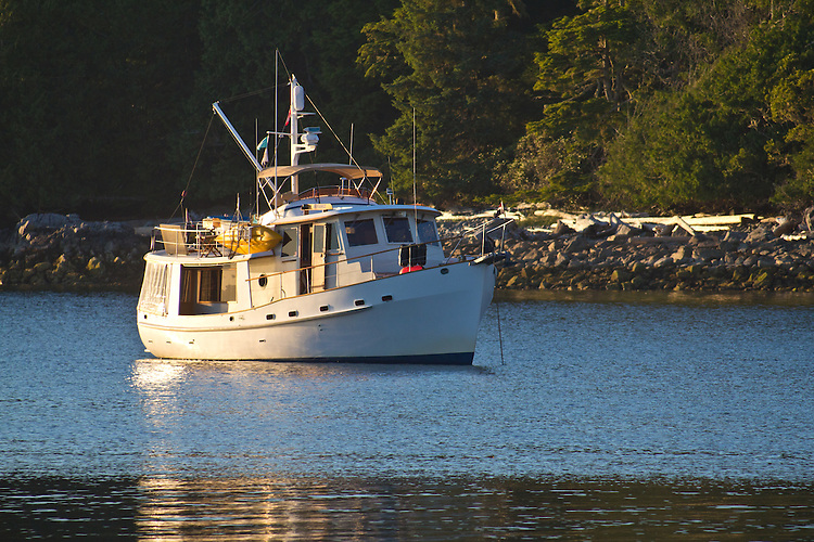 Vancouver Island, Deer Group, British Columbia, Canada, wilderness coast, west coast, summer, yacht at anchor, Diana Island,