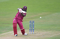 Chris Gayle (West Indies) holes out during West Indies vs New Zealand, ICC World Cup Warm-Up Match Cricket at the Bristol County Ground on 28th May 2019