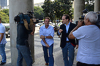 RIO DE JANEIRO-17/06/2012-O Prefeito Eduardo Paes, o Ministro Laudemar Aguiar e Sha Zukang, Secretario geral da Onu na reinauguracao do Monumento a Paz no Aterro do Flamengo, zona sul do Rio.Foto:Marcelo Fonseca-Brazil Photo Press