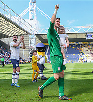 Preston North End's Declan Rudd waves to fans after the match<br /> <br /> Photographer Alex Dodd/CameraSport<br /> <br /> The EFL Sky Bet Championship - Preston North End v Burton Albion - Sunday 6th May 2018 - Deepdale Stadium - Preston<br /> <br /> World Copyright &copy; 2018 CameraSport. All rights reserved. 43 Linden Ave. Countesthorpe. Leicester. England. LE8 5PG - Tel: +44 (0) 116 277 4147 - admin@camerasport.com - www.camerasport.com