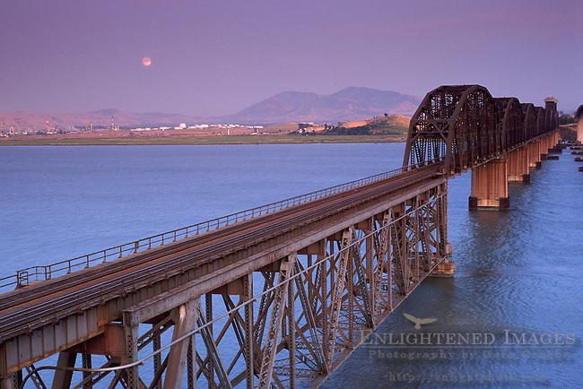 Train Trestle Bridge over the Carquinez Strait, CALIFORNIA