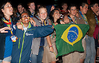 Audience during the closing ceremony - Brazil, Germany. Photo: André Jörg/Scouterna