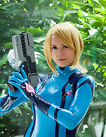 Samus Aran Cosplay, Pax Prime 2015, Seattle, Washington State, WA, America, USA.