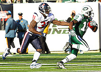 The New York Jets playing the Texans at the New Meadowlands Stadium on Sunday, November 21, 2010. The Jets defeated the Texans 30-27. Photo by Errol Anderson