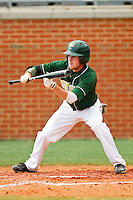 Shane Brown #1 of the Charlotte 49ers squares to bunt against the Missouri Tigers at Robert and Mariam Hayes Stadium on February 27, 2011 in Charlotte, North Carolina.  Photo by Brian Westerholt / Four Seam Images