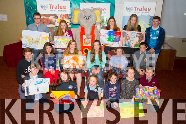 Front l-r Calum O'Brien, Mairead Stack, Alice Brosnan, Lily O'Connor, Rebecca Daly, Adam Carroll.  Middle l-r Cillian Moran, Iseult Ni Loingsigh, Caoimhe Roche, Stella McElligott, Zoe Keane Costello, Daniel O'Rourke.  Back l-r Jack Roche, Amy Pollmann-Daamen, Niamh Sheehan, Alicia Buckley, Dylan Raymond at the Tralee Credit Union Awards night at the Manor West Hotel on Friday