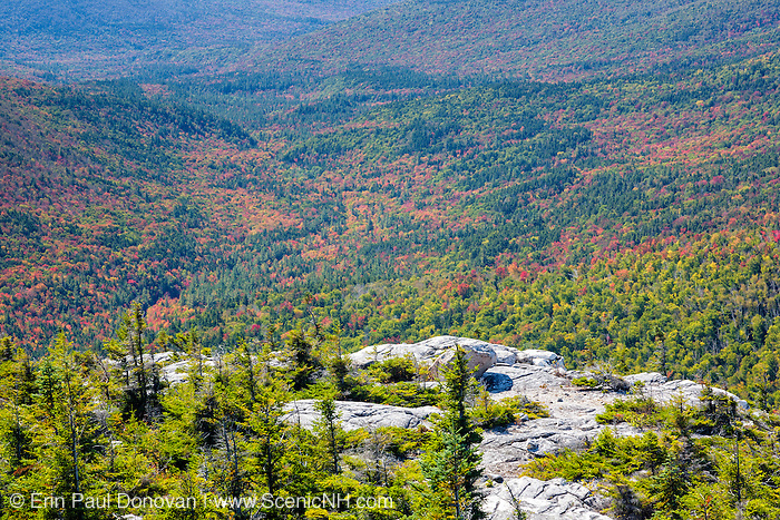 Pemigewasset Wilderness from the summit of Whitewall Mountain in the White Mountains, New Hampshire USA during the autumn months.