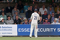 Tom Westley of Essex waits for the ball to be returned after it was hit over the stand for six by Matt Fisher during Essex CCC vs Yorkshire CCC, Specsavers County Championship Division 1 Cricket at The Cloudfm County Ground on 7th July 2019