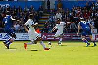 Wayne Routledge of Swansea City crosses the ball during the Premier League match between Swansea City and Stoke City at The Liberty Stadium, Swansea, Wales, UK. Sunday 13 May 2018