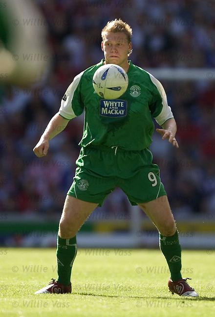 Garry O'Connor, Hibs.stock season 2004-2005.pic willie vass