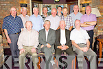 Dermot O'Mahony and Michael Doona pictured with John Mannix, Willie O'Sullivan, Jimmy Fleming, Donal Tucker, James O'Connor, Philip Coffey, Pat Horgan, Padraig Doherty, Gerard Fitzgerald, Paddy O'Shea and James O'Connor as they celebrated their retirement from St Columbanus Home, Killarney after a total of 55 years, in Kaynes Bar, Killarney on Friday night.