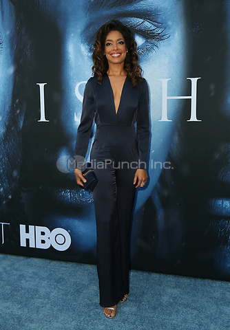 "LOS ANGELES, CA July 12- Gina Torres,  At Premiere Of HBO's ""Game Of Thrones"" Season 7 at The Walt Disney Concert Hall, California on July 12, 2017. Credit: Faye Sadou/MediaPunch"