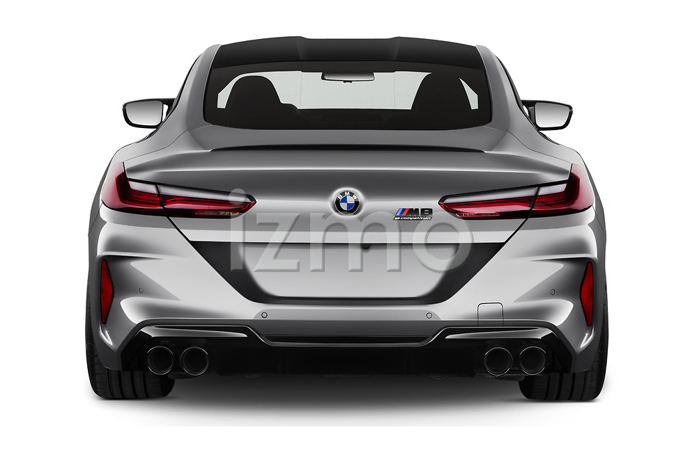 Straight rear view of 2020 BMW M8 M8-Competition 2 Door Coupe Rear View  stock images