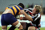 James Maher takes Colin Bourke to ground during the Air NZ Cup rugby game between Bay of Plenty & Counties Manukau played at Blue Chip Stadium, Mt Maunganui on 16th of September, 2006. Bay of Plenty won 38 - 11.