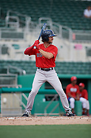 Boston Red Sox right fielder Jagger Rusconi (2) at bat during a Florida Instructional League game against the Baltimore Orioles on September 21, 2018 at JetBlue Park in Fort Myers, Florida.  (Mike Janes/Four Seam Images)