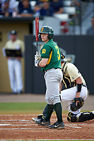 Siena Saints catcher Phil Madonna (3) at bat during a game against the UCF Knights on February 21, 2016 at Jay Bergman Field in Orlando, Florida.  UCF defeated Siena 11-2.  (Mike Janes/Four Seam Images)