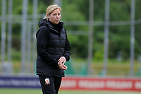 Jayne Ludlow Head Coach of Wales Women's' in action during the Women's International Friendly match between Wales and New Zealand at the Cardiff International Sports Stadium in Cardiff, Wales, UK. Tuesday 04 June, 2019