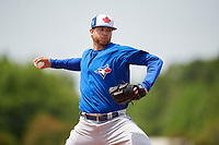 Toronto Blue Jays pitcher T.J. Zeuch (47) during a Minor League Spring Training game against the Philadelphia Phillies on March 30, 2018 at Carpenter Complex in Clearwater, Florida.  (Mike Janes/Four Seam Images)