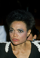 """Montreal (Qc) CANADA - August 8, 1986 File Photo -<br /> <br /> Eartha Kitt concert with Marjo in Montreal.<br /> <br /> Eartha Mae Kitt (born on January 17, 1927)[1] is an American actress, singer, and cabaret star. She is known for her role as Catwoman in the 1960s TV series Batman, and for her 1953 Christmas song """"Santa Baby."""" Orson Welles once called her """"the most exciting woman in the world.""""[<br /> <br /> -Photo (c)  Images Distribution"""
