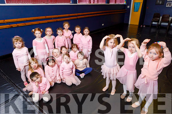 Young Ballerinas launching their upcoming Born to Dance show at the Kerry School of Music on Saturday.  <br /> Front l to r: Eabha Barrett, Phillipa Stack and Darcy Windle.