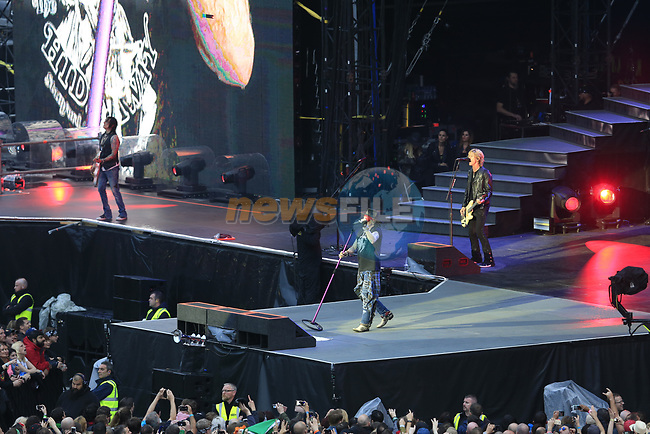 Guns n Rose's  on stage at the concert in Slane Castle, Slane, Co Meath.<br /> Picture Newsfile | Fran Caffrey