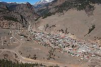 Aerial Creede, Colorado. April 2012