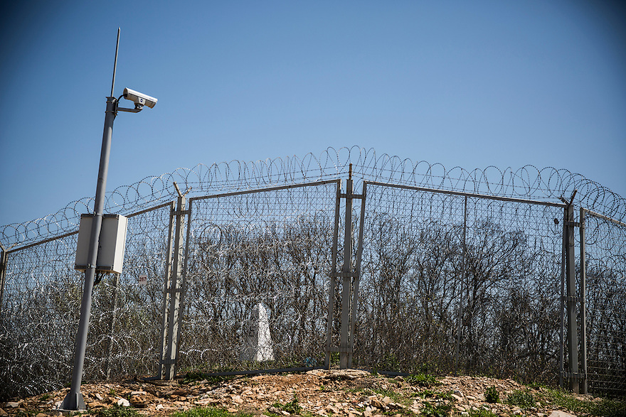 LESOVO, BULGARIA- The fence along the Bulgarian Turkish border.