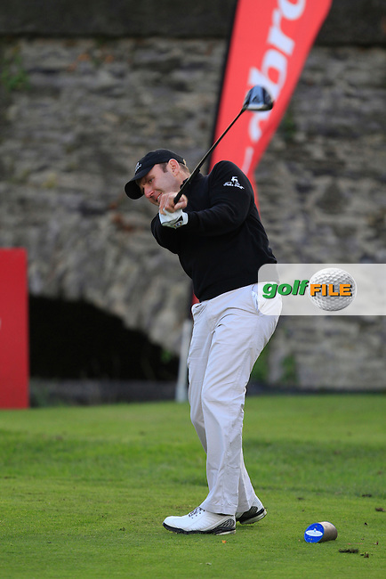 Colm Moriarty (Glassen Hotel &amp; G.C) on the 8th tee during Round 2 of The Cassidy Golf 103rd Irish PGA Championship in Roganstown Golf Club on Friday 11th October 2013.<br /> Picture:  Thos Caffrey / www.golffile.ie