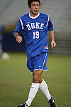 11 October 2009: Duke's Christop Tweed-Kent. The Duke University Blue Devils defeated the University of North Carolina Greensboro Spartans 3-0 at Koskinen Stadium in Durham, North Carolina in an NCAA Division I Men's college soccer game.