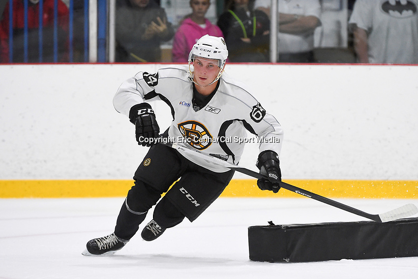 July 15, 2015 - Wilmington, Massachusetts, U.S. - Forward Anton Blidh (64) takes part in the Boston Bruins development camp held at Ristuccia Arena in Wilmington Massachusetts. Eric Canha/CSM