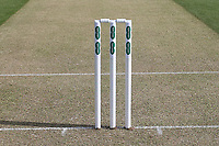 The stumps ready for play during Essex CCC vs Durham MCCU, English MCC University Match Cricket at The Cloudfm County Ground on 2nd April 2017