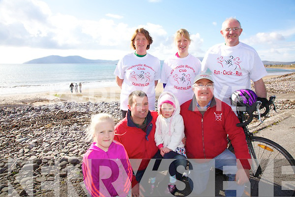 Waterville Rowing club will hold a fund raising Duathlon on the 7th April at 1pm from the IRD car park in Waterville, pictured here front l-r; Leah Dwyer, David Clifford, Laura Clifford, Noel Clifford, back l-r; Colette O'Sullivan, Sara Dwyer & John O'Shea.